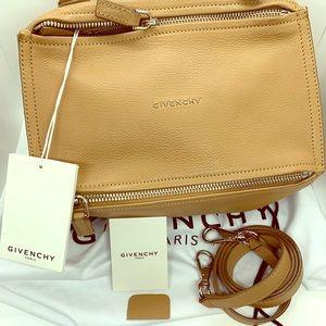 GIVENCHY Goatskin Small Pandora Medium Beige Bag